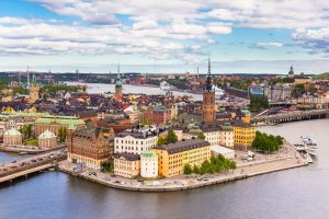 Sweden---travel-guide---Gamla-Stan-view,-Stockholm